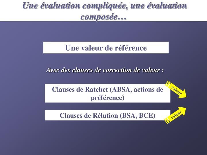 Une évaluation compliquée, une évaluation composée…