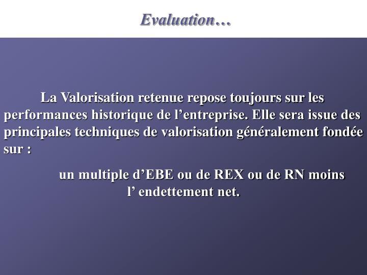 Evaluation…