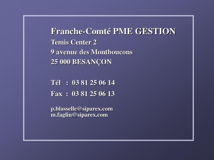 Franche-Comté PME GESTION