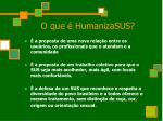 o que humanizasus
