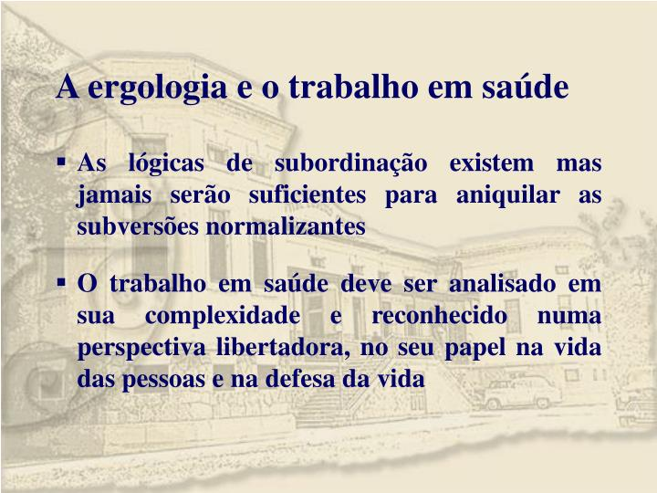 A ergologia e o trabalho em saúde