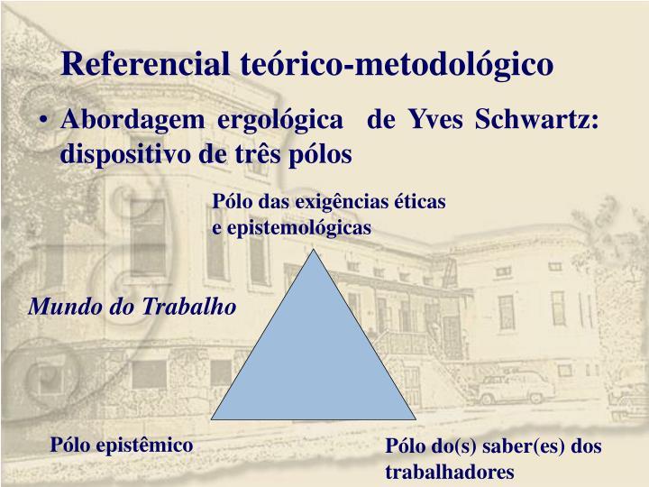 Referencial teórico-metodológico
