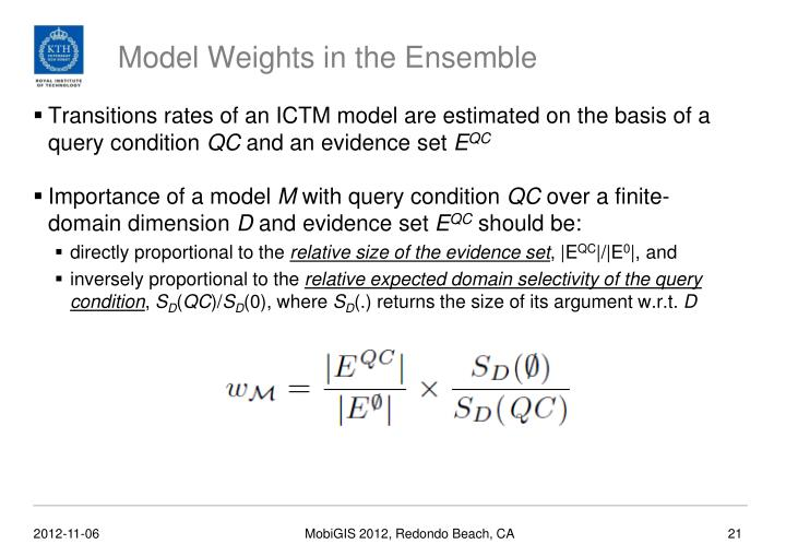 Model Weights in the Ensemble