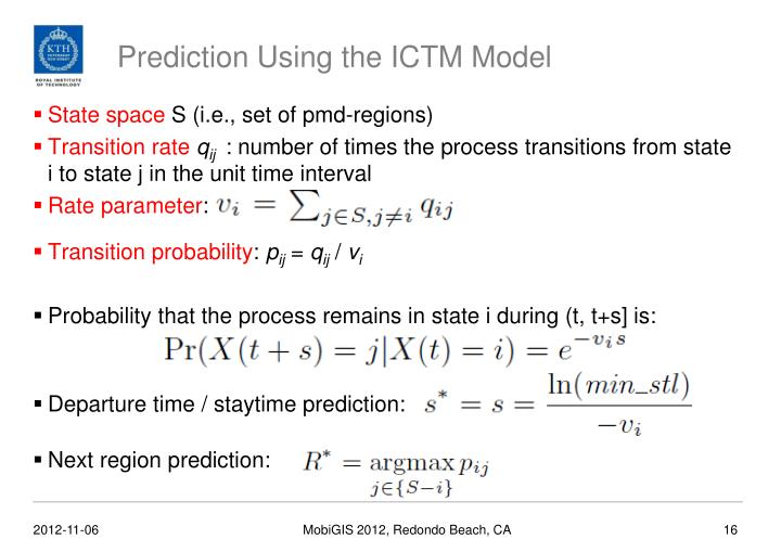 Prediction Using the ICTM Model