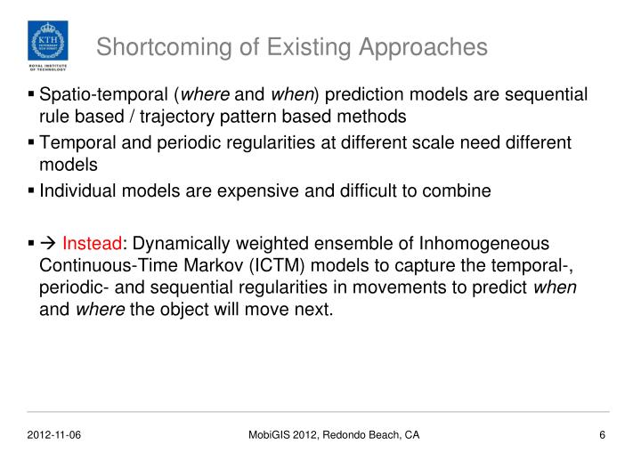 Shortcoming of Existing Approaches