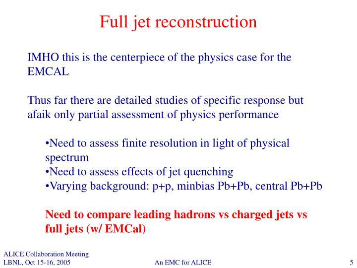 Full jet reconstruction