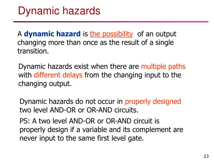 Dynamic hazards do not occur in