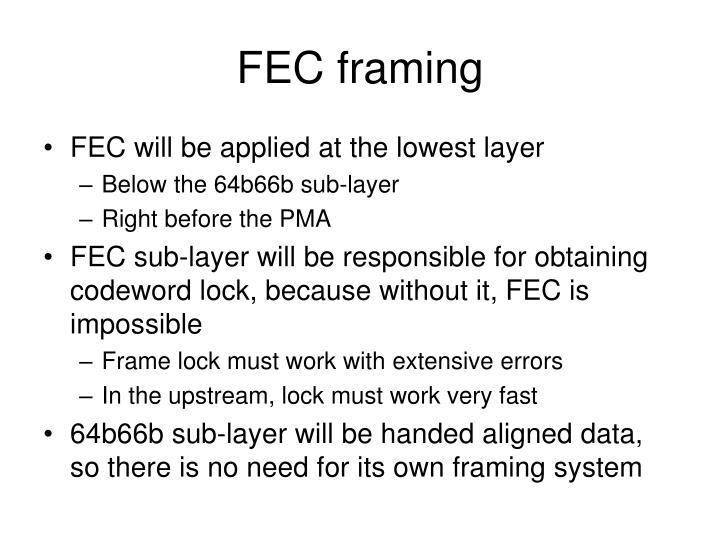 FEC framing