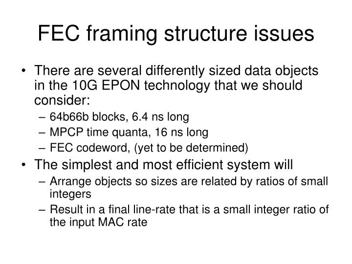 FEC framing structure issues