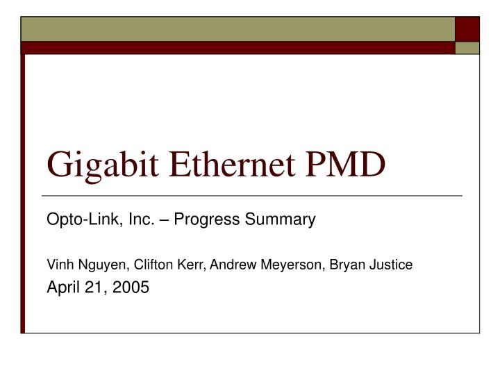 gigabit ethernet pmd