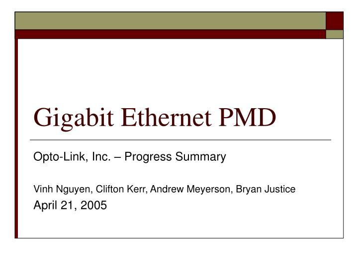 Gigabit Ethernet PMD