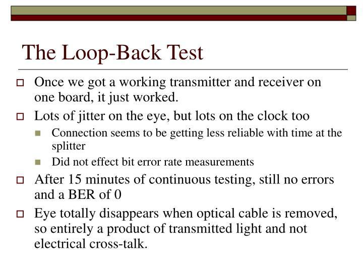 The Loop-Back Test