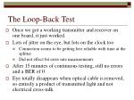 the loop back test