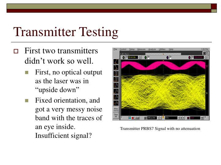 Transmitter Testing