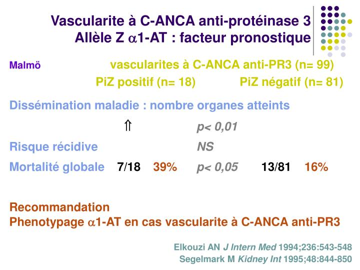 Vascularite à C-ANCA anti-protéinase 3