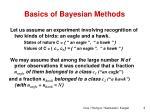 basics of bayesian methods