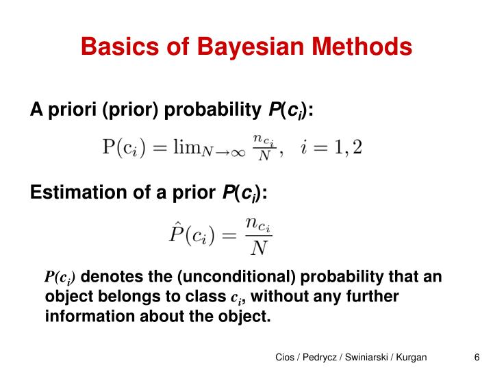 Basics of Bayesian Methods