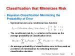 classification that minimizes risk4