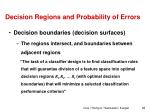 decision regions and probability of errors1