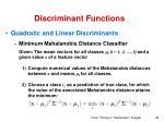 discriminant functions16
