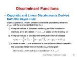 discriminant functions7
