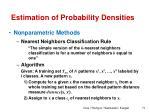 estimation of probability densities19
