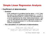 simple linear regression analysis17