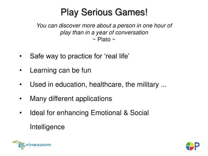 Play Serious Games!
