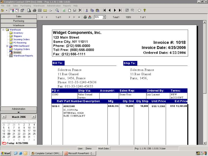 Invoice Preview Screen