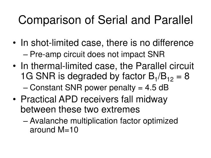 Comparison of Serial and Parallel