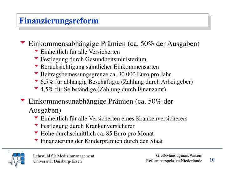 Finanzierungsreform