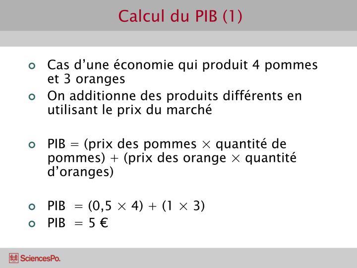 Calcul du PIB (1)