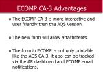 ecomp ca 3 advantages