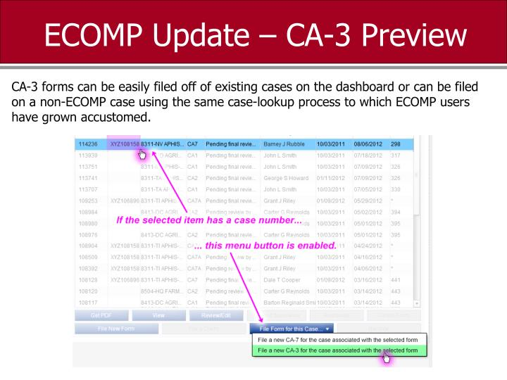 ECOMP Update – CA-3 Preview