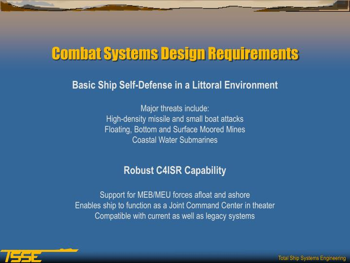Basic Ship Self-Defense in a Littoral Environment