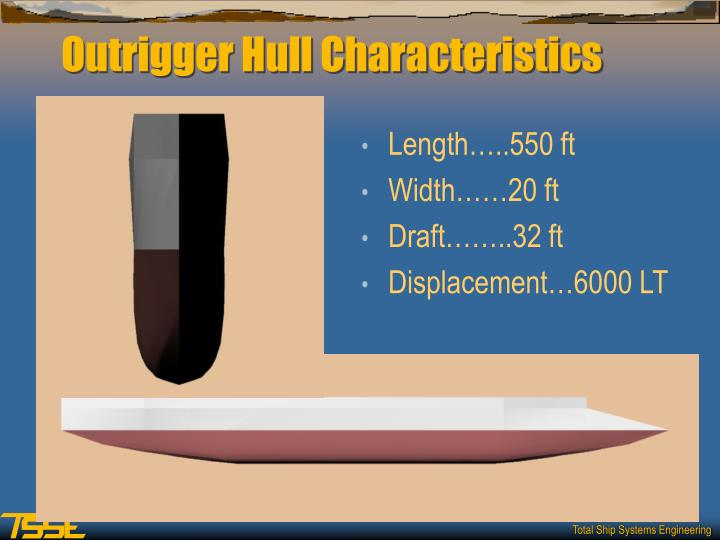 Outrigger Hull Characteristics