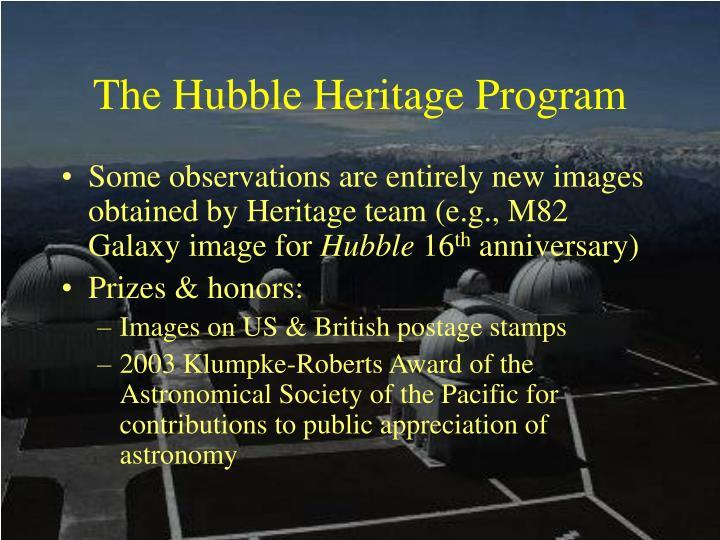 The Hubble Heritage Program