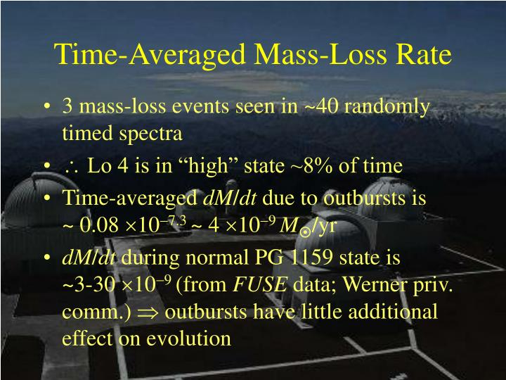Time-Averaged Mass-Loss Rate