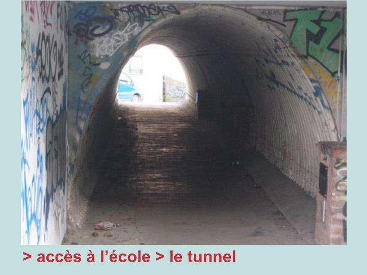 > accès à l'école > le tunnel