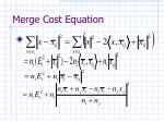 merge cost equation2