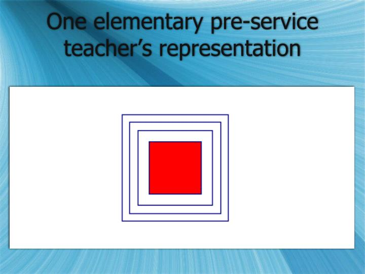 One elementary pre-service teacher's representation