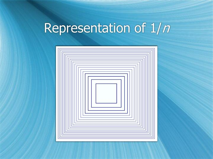 Representation of 1/