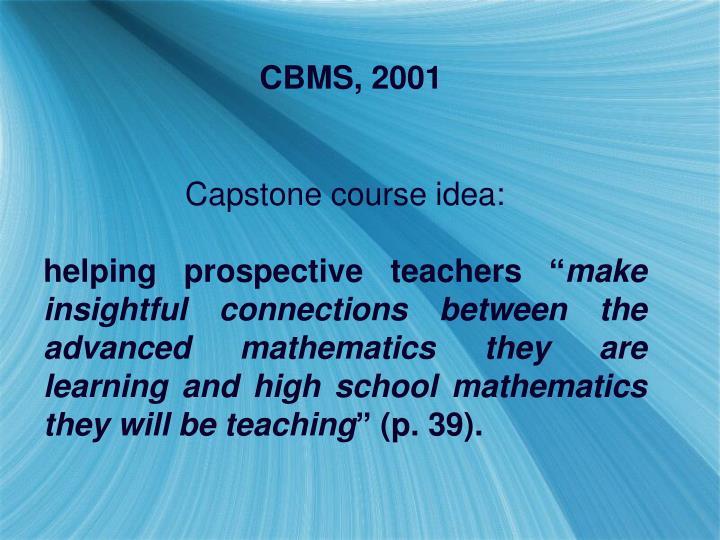 CBMS, 2001