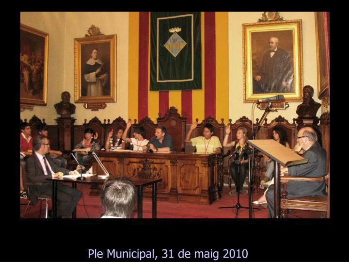 Ple Municipal, 31 de maig 2010