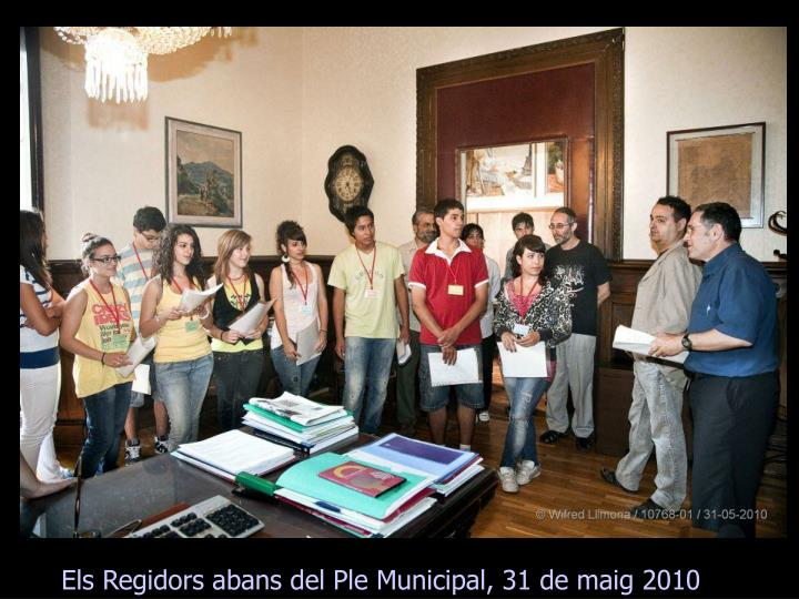 Els Regidors abans del Ple Municipal, 31 de maig 2010