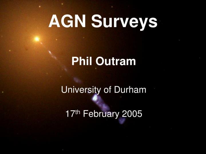 AGN Surveys