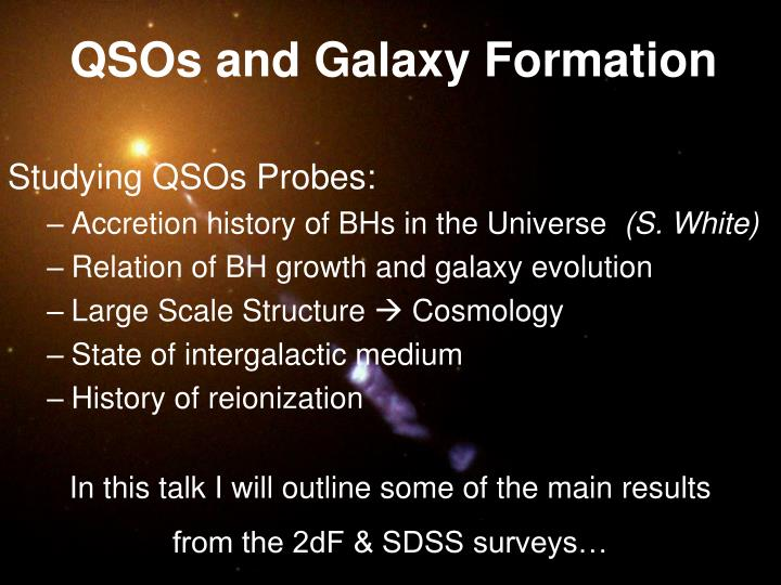 QSOs and Galaxy Formation