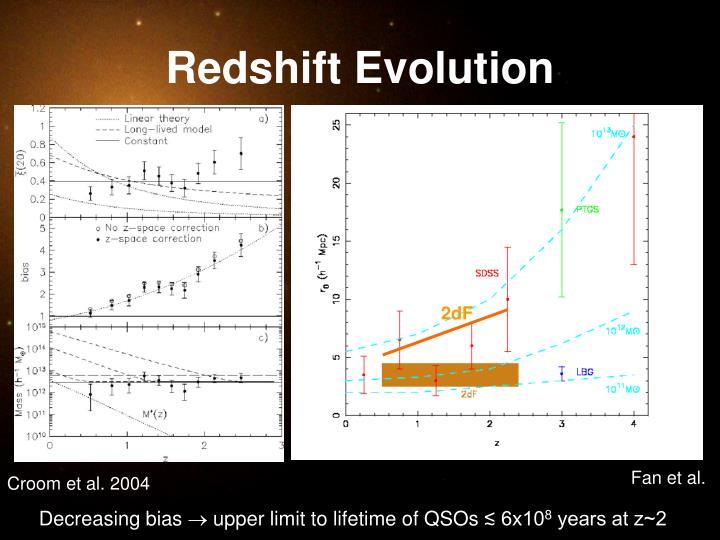 Redshift Evolution