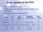 lazy variant of the pnn