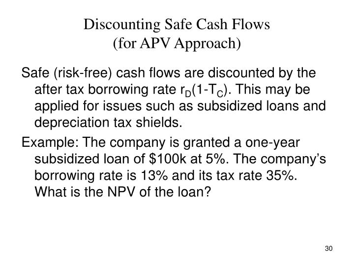 Discounting Safe Cash Flows